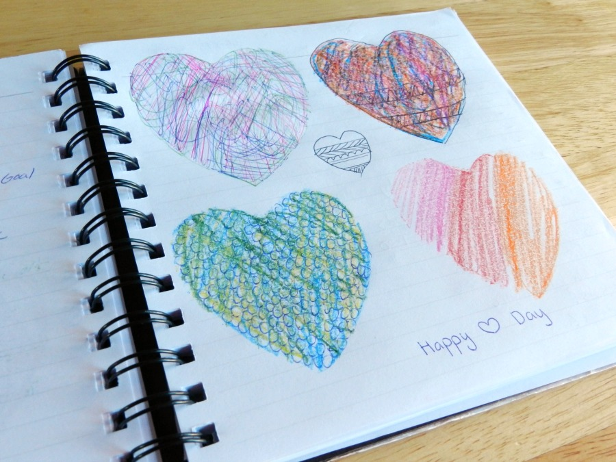 scribbled hearts designs (grow creative)