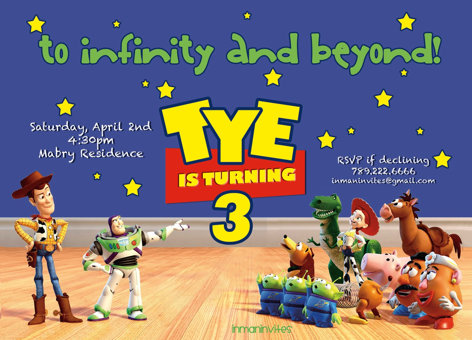 Toy Story Invitation Templates