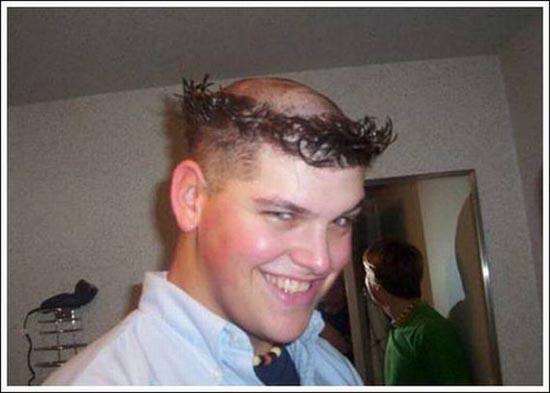 peinados raros curiosos de hombres