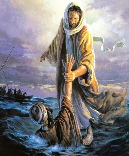 Jesús y Pedro