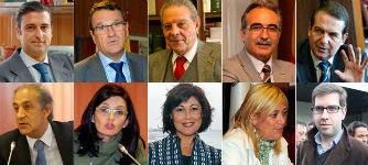 Germán Serrano, Juan Carlos Aladro, Alfonso Álvarez Gándara, Manuel Castells, Abel Caballero, Chema Figueroa,