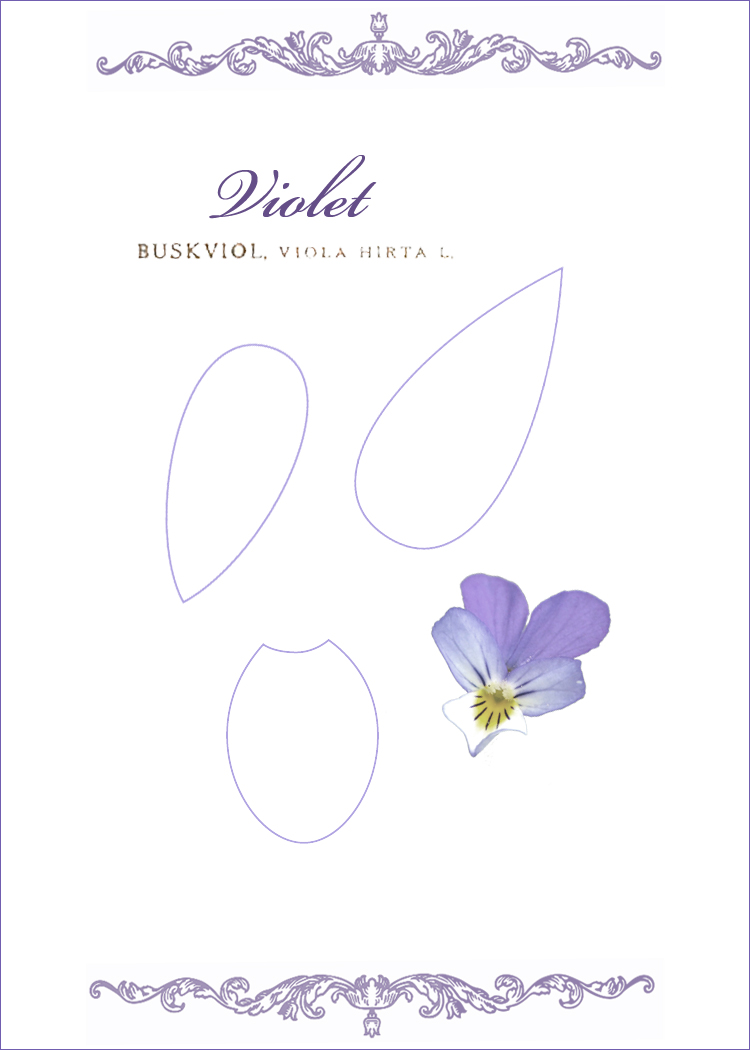 Kell Belle Studio How To Make A Paper Violet Flower