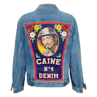 Caine London denim jacket johnny depp tupac kurt cobain