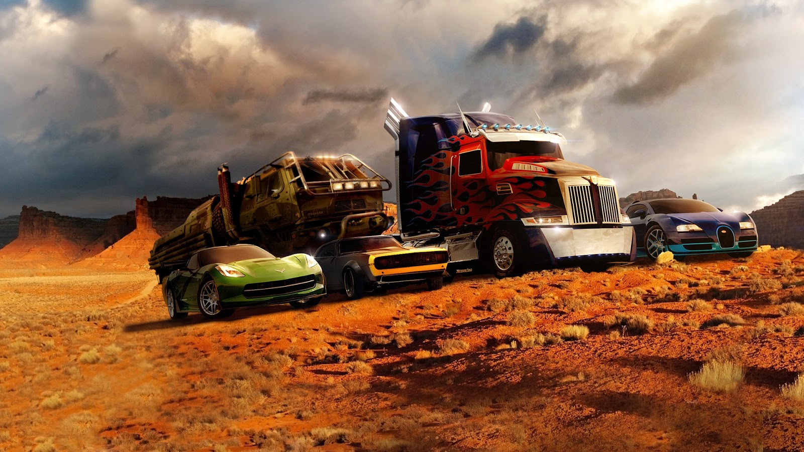 5 Autobot Cars on Transformers 4