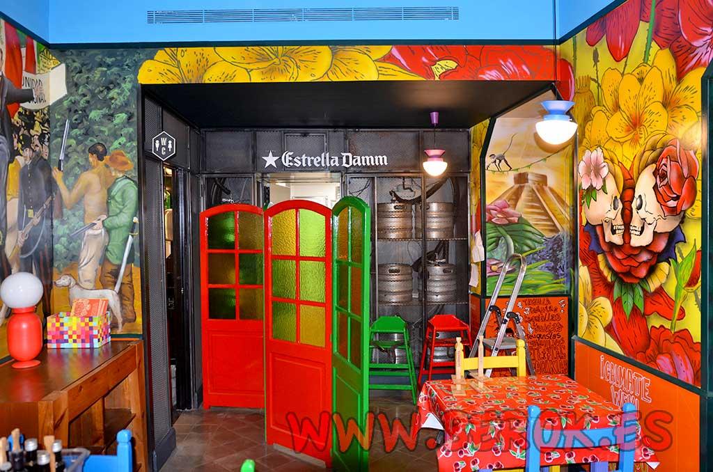 Berok graffiti mural profesional en barcelona decoraci n - Decoracion de interiores de bares ...