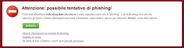 Sito pericoloso bloccato da Google Chrome