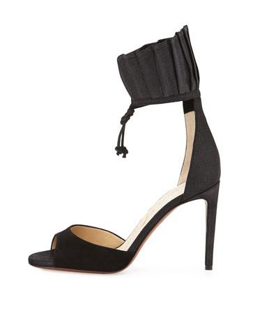 Valentina Carrano Black Ankle strap stilettos