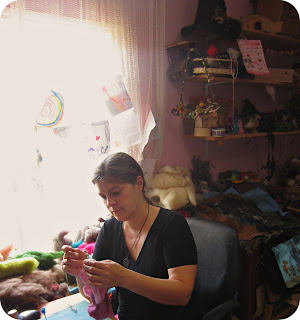 Daria Lvovsky in her studio