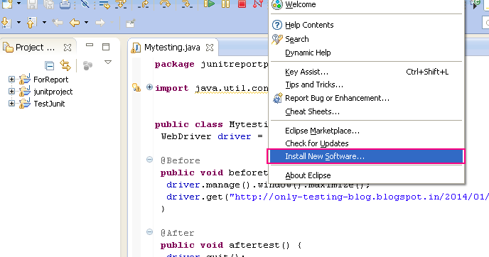 Steps Of Downloading And Installing Testng In Eclipse For WebDriver