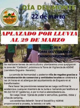 ADENE - APLAZADO EL DÍA DEL MONTE PARA EL 29 DE MARZO