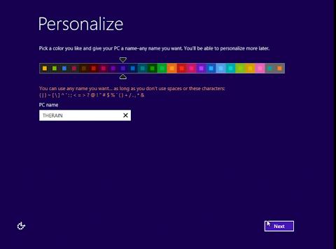 Setelah Komputer Menyala, Anda akan di suguhi pengaturan tampilan dan diminta memasukkan Username yang akan Anda gunakan nantinya