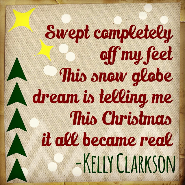 kelly clarkson swept completely off my feet this snow globe dream