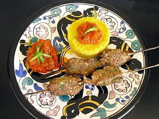 Brochettes de kefta et semoule au Riz d'Or