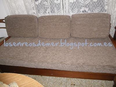 Sofá cama retapizado