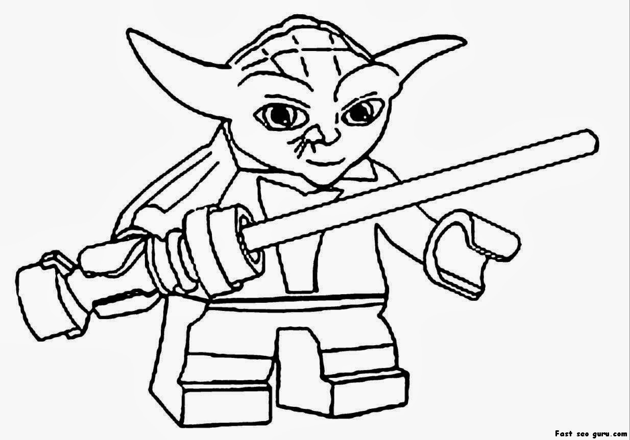 Free lego coloring book printable - Coloring Book Yoda Colouring Lego Star Wars 54