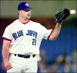Roger Clemens, 1997, Toronto Blue Jays, pitcher, baseball