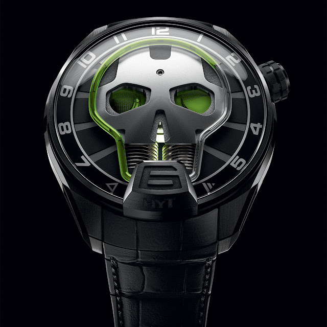 HYT Skull Green Eye Mechanical Hand-wound Watch