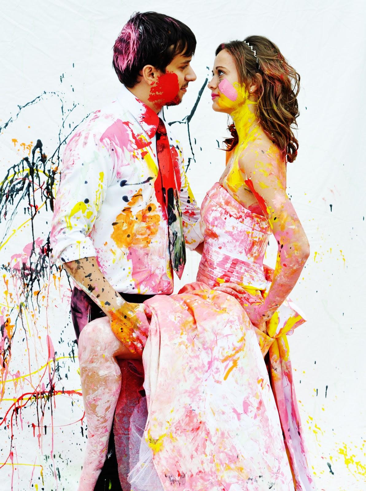 Trash the dress paint