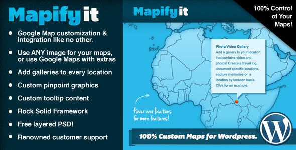 Free Download Mapify.it V2.7.6 Customized Google Maps for Wordpress Plugin