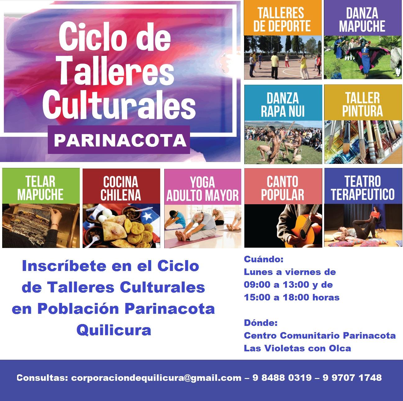 CICLO DE TALLERES CULTURALES DE POBLACIÓN PARINACOTA