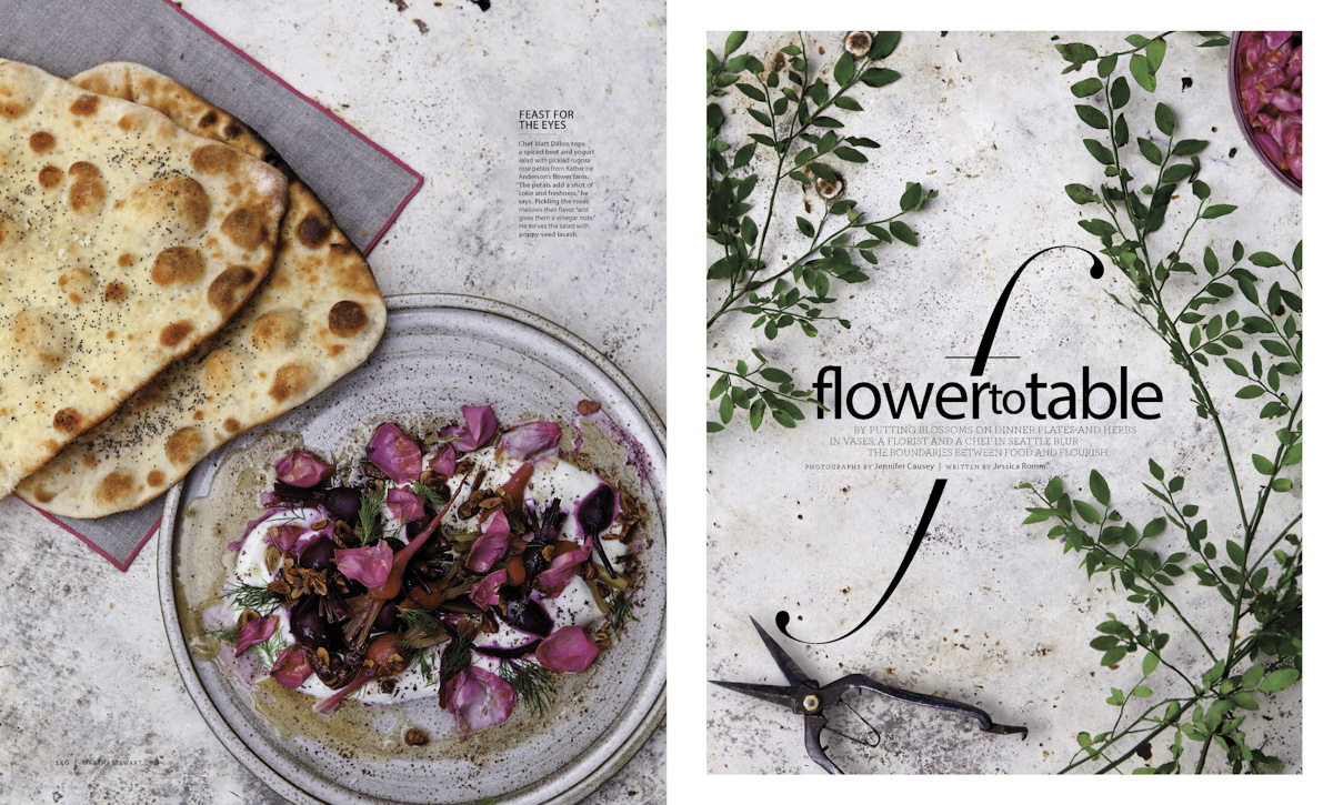 FOOD AND FLOWERS FOR MARTHA STEWART LIVING