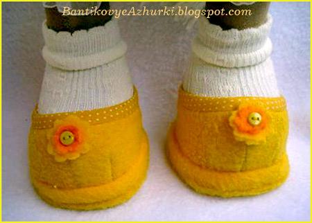 Как пошить туфельки для куклы