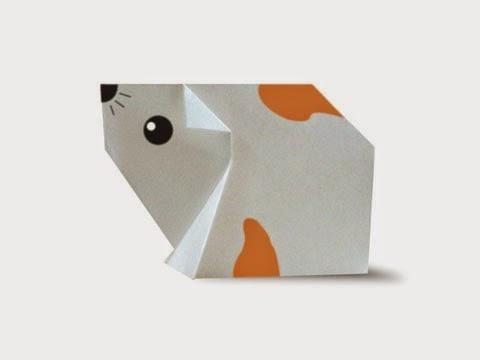 Cách gấp, xếp con chuột Hamster bằng giấy origami - Video hướng dẫn xếp hình - How to make a Mouse