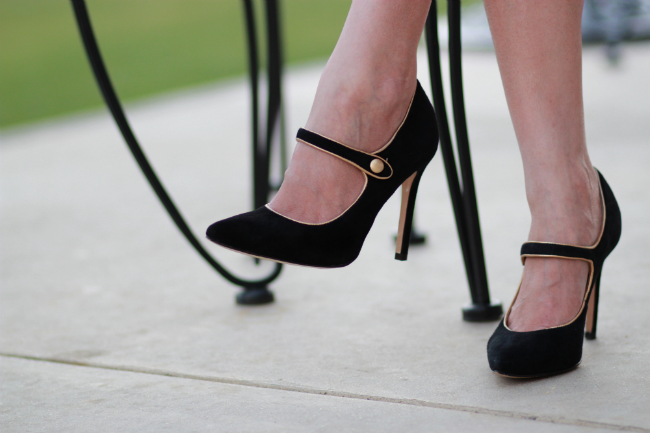 suede mary jane pumps black and gold shoes heels