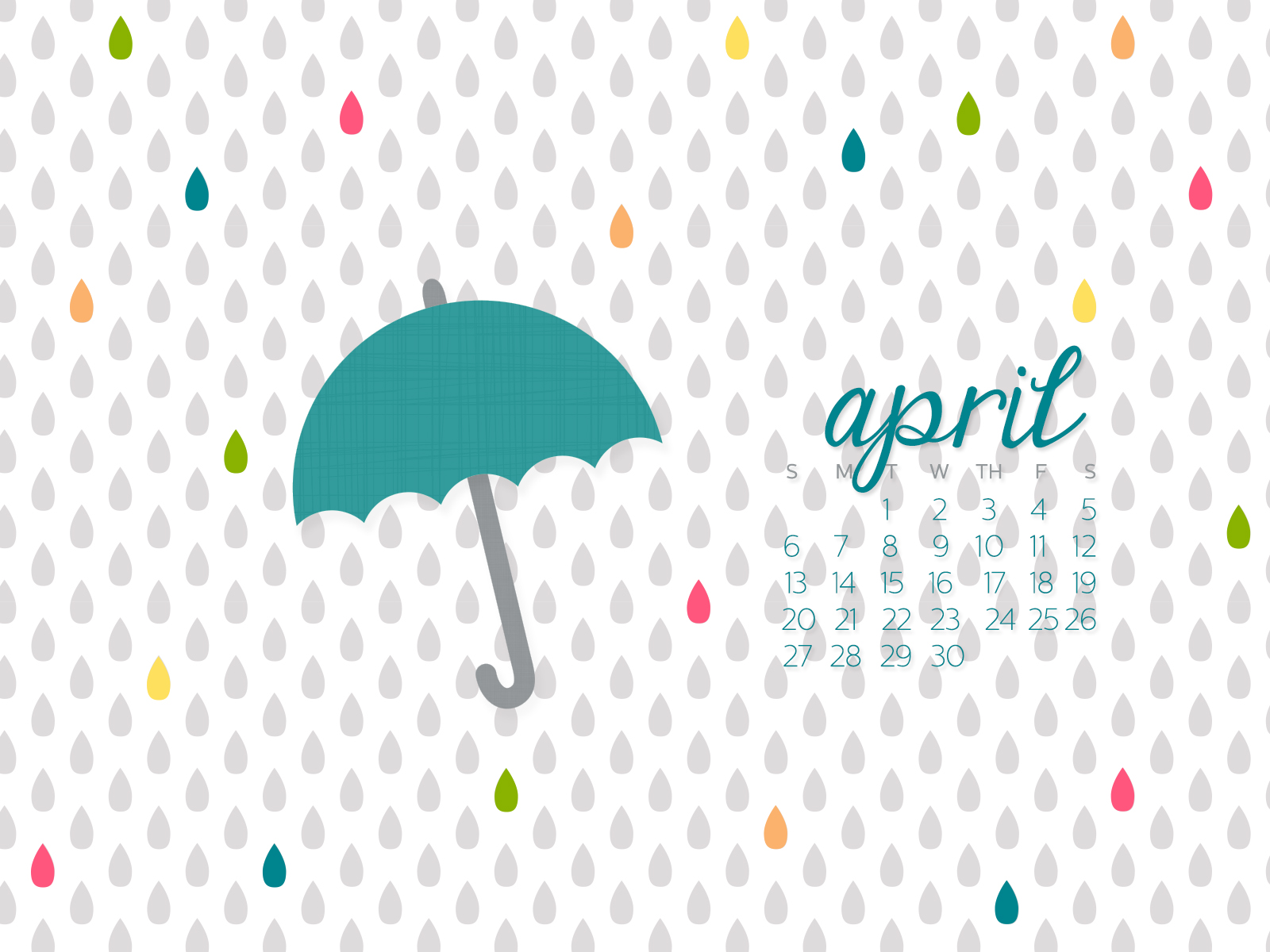 desktop calendar background april 2014