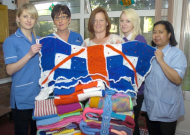 delivering blankets to vauxhall court residential home , featured in boston standard x