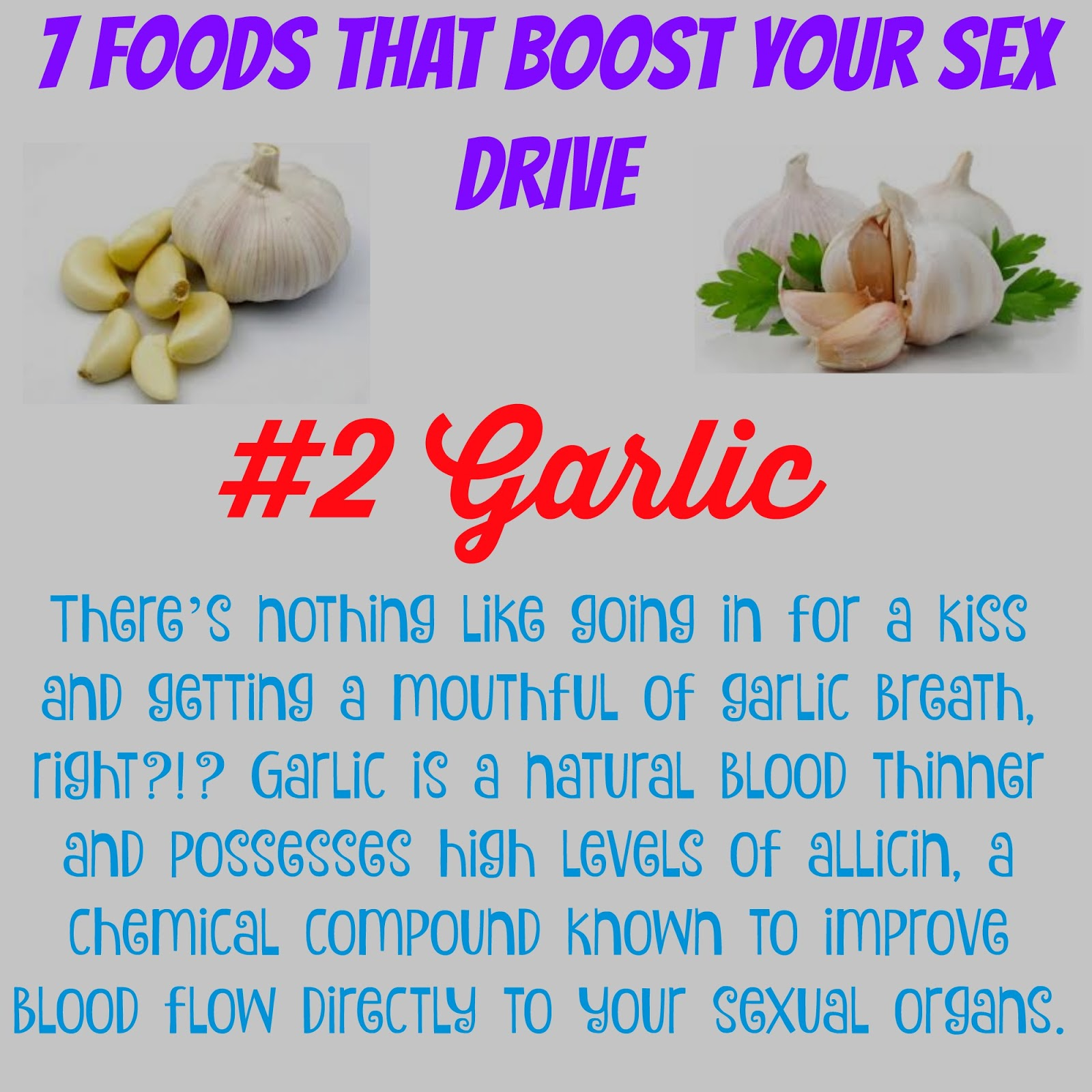 Is garlic good for sex