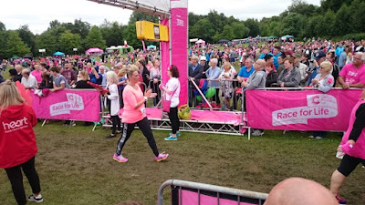 Race For Life 2015 Sim finishing Heaton Park, Manchester