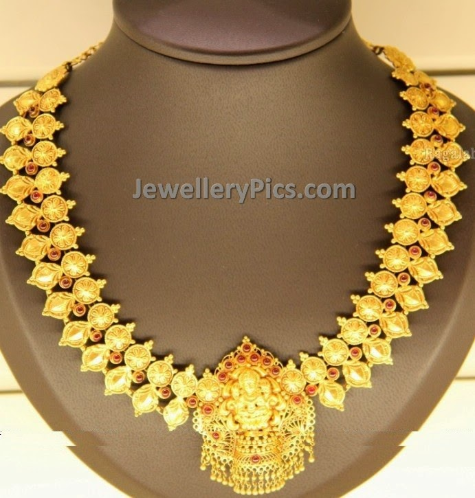 Spinel rubies classic gold necklace