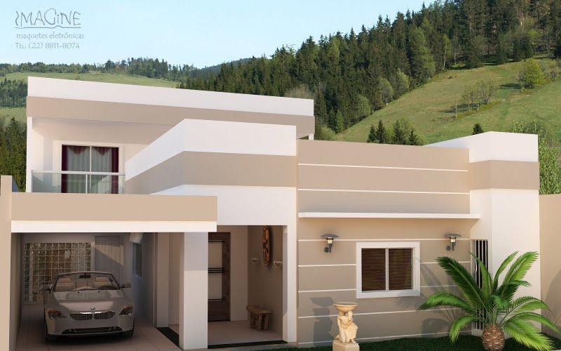 Construindo nosso lar fahadas e muros com detalhes est o for Cores modernas para fachadas de casas 2013