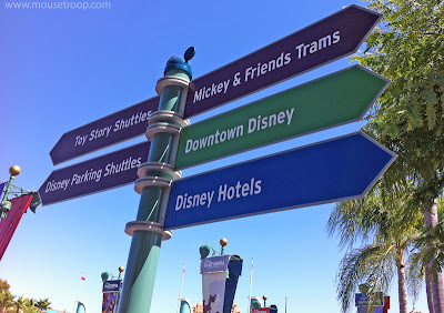 Disneyland Resort Signpost sign signs downtown directional