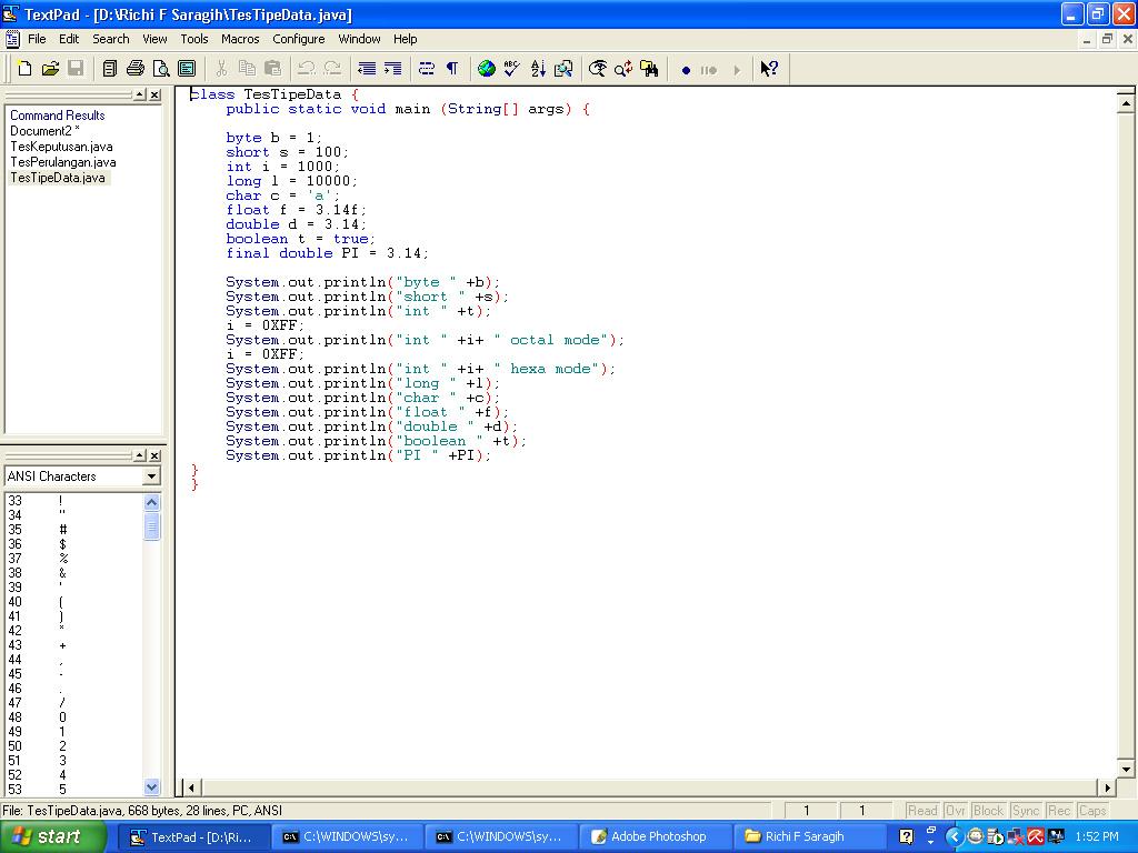 Modifikasi Minimalis V Ixion Laporan Praktikum Java