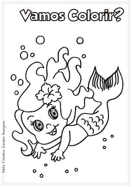 Desenho Iara Folclore Colorir
