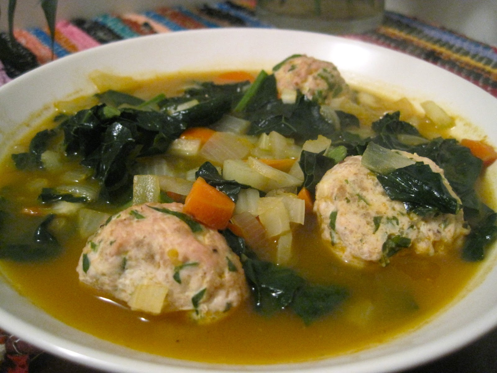 Kvell in the Kitchen: Italian Wedding Soup with Turkey Meatballs
