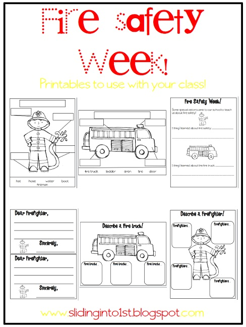 Fire Safety Worksheets Preschool http://slidinginto1st.blogspot.com/2012_09_01_archive.html