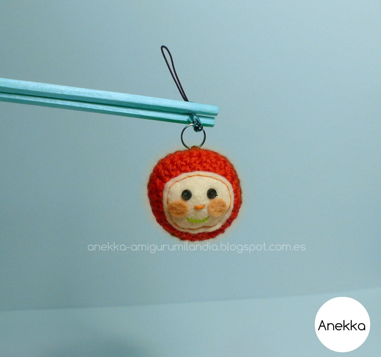 keychain tomato anekka handmade