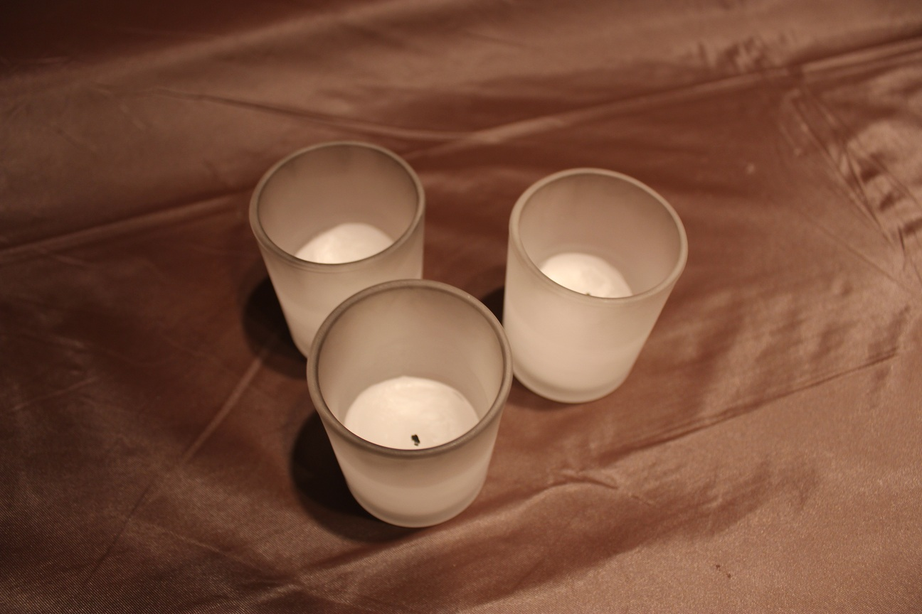 paper luminaries Modgy expandable led luminaries expand with water and include flameless, floating led candles.