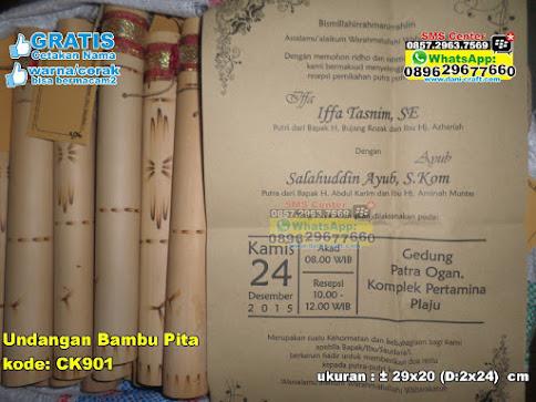 Undangan Bambu Pita murah
