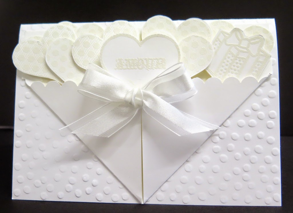 White on white wedding card for Zena kennedy  independent stampin up demonstrator