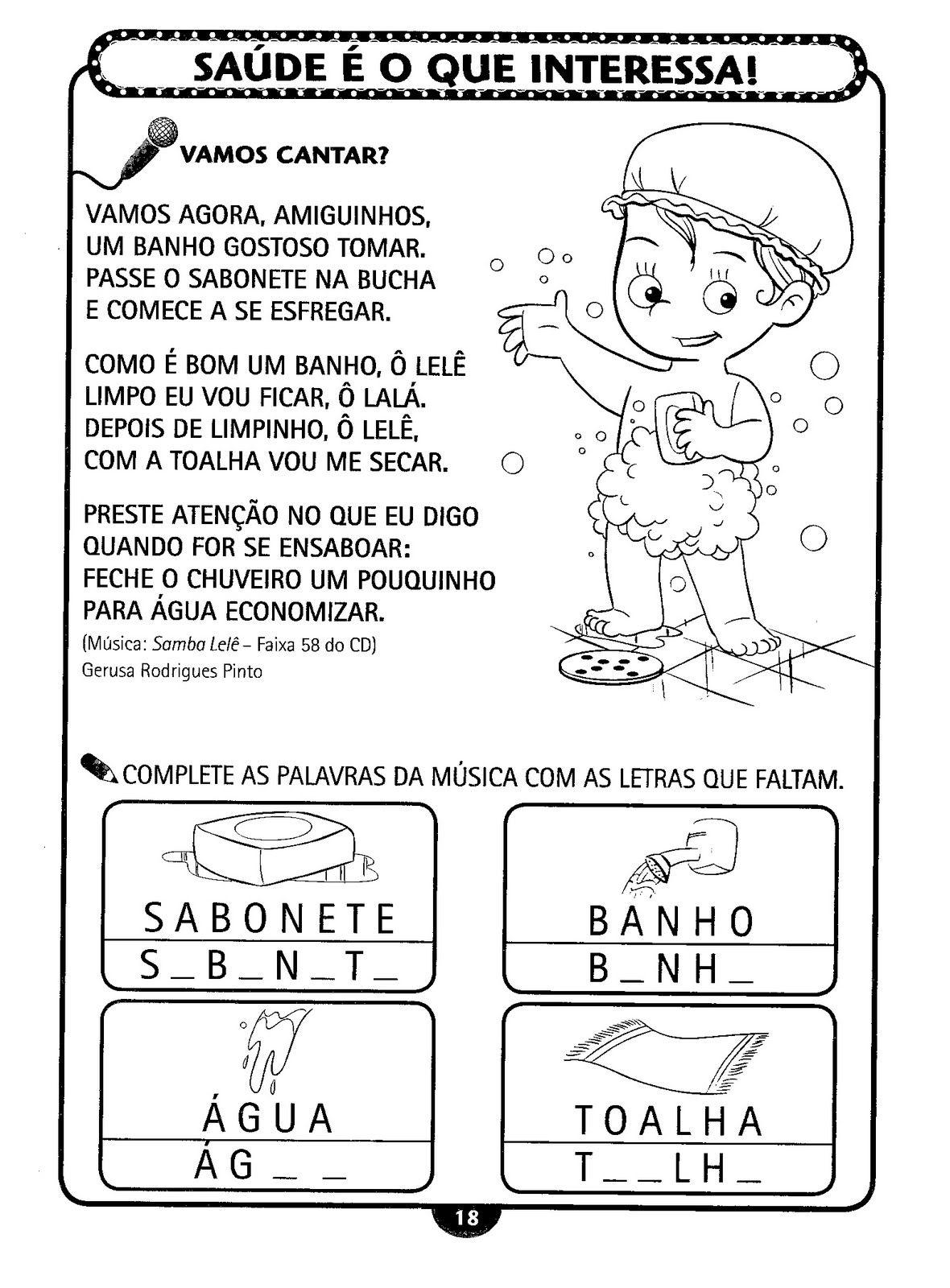 Muito TRABALHOS ESCOLARES-ENSINO FUNDAMENTAL: HIGIENE PESSOAL-EDUCAÇÃO  EO13