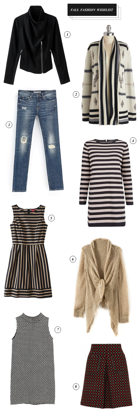Fall Fashion Wishlist // Bubby and Bean