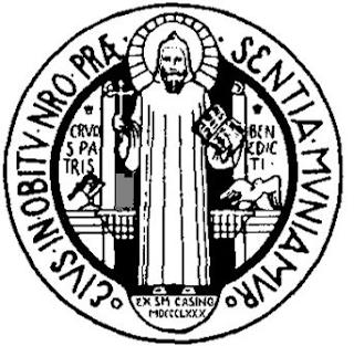 Anverso o parte frontal de la Medalla de San Benito