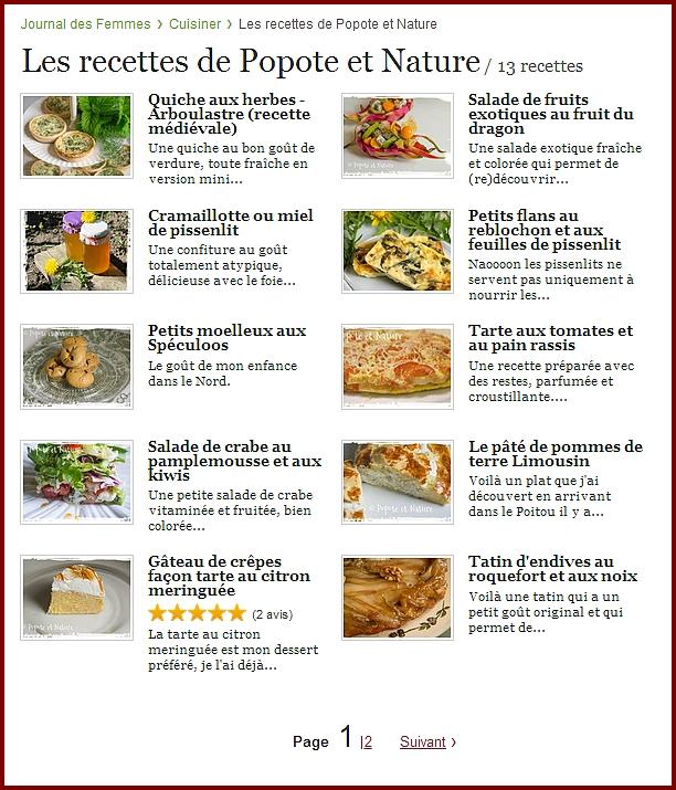 Popote et nature coup de coeur blog journal des femmes cuisine - Journal de femmes cuisine ...