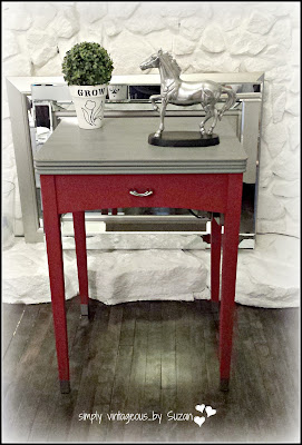 sewing machine table makeover
