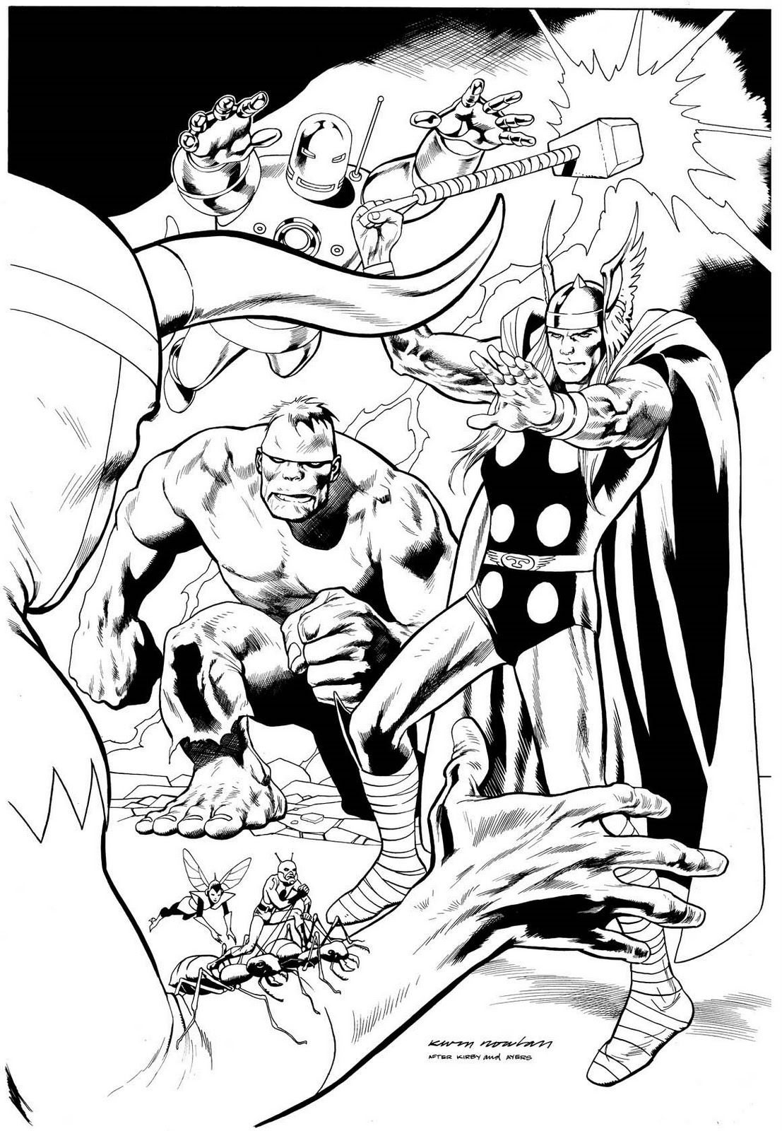 Desenhos Os Vingadores desenhar