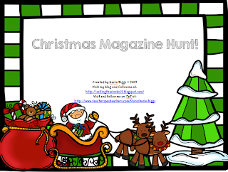 http://www.teacherspayteachers.com/Product/Christmas-Magazine-Hunt-1025166